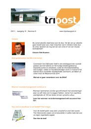 Download Tripost Nr. 6 2013 - Tripolis Advies