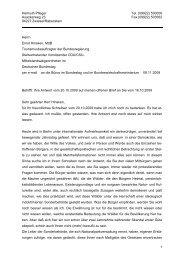 Erwiderung vom 09.11.2009 zum Antwortbrief von Ernst Hinsken ...