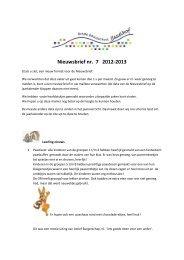Nieuwsbrief nr. 7 2012-2013 - O.B.S. IJsselhof