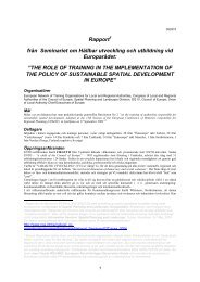 The Role of Training - Landscape & Citizens