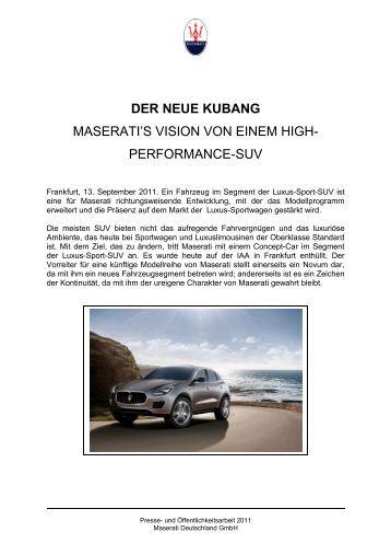 DER NEUE KUBANG - Auto Sport Stopka Gmbh