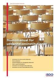 Momsmanual for uddannelsesinstitutioner - BDO