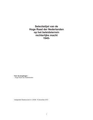 Selectielijst Hoge Raad stcnrt 25306 2012 - Nationaal Archief
