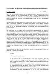 1 Disfunctioneren van de nationale wetgeving (malfunctioning of ...