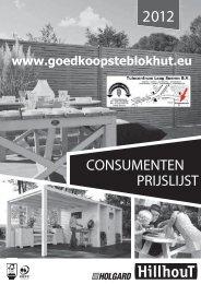 Prijslijst Holgard - Goedkoopste Blokhut