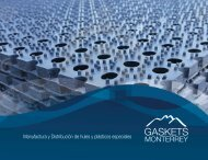 Manufactura y Distribución de hules y plásticos especiales - Gaskets ...