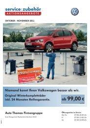 Niemand kennt Ihren Volkswagen besser als wir. - bei Auto Thomas