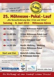 25. Möhnesee - Pokal - Lauf