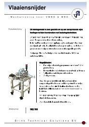 Folder Vlaaiensnijder - Brink Techniek