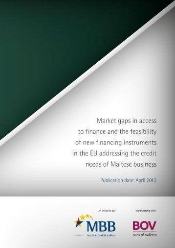 Market Gaps on Access to Finance - Bank of Valletta