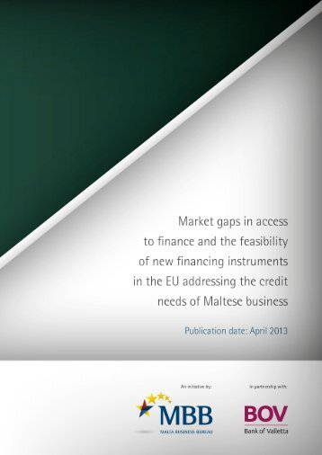 Market Gaps on Access to Finance - Bank of Valletta