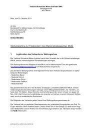 Stellungnahme zur Totalrevision der Bundesgesetzes für Meteorologie