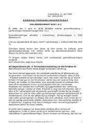 Ordinær generalforsamling 7. april 2008 - Hollændervænget Blok I ...