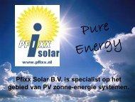 Presentatie Pfixx Solar - Netwerk duurzame energie Gelderland