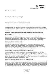 Høringssvar fra Nysted skoles skolebestyrelse og MED-udvalg