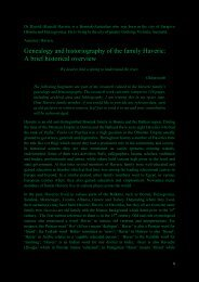 Genealogy and historiography of the family Haveric ... - Dzavid Haveric