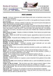 Roches et Carrières Association N° 0604006236 - Site de la Mairie ...