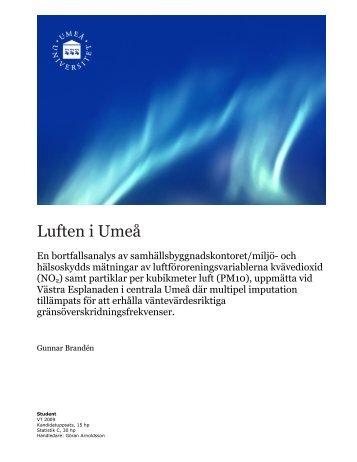 dominerande latin avsugning i Umeå