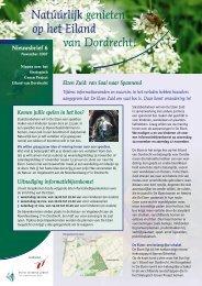 Nieuwsbrief 6 - Nieuwe Dordtse Biesbosch