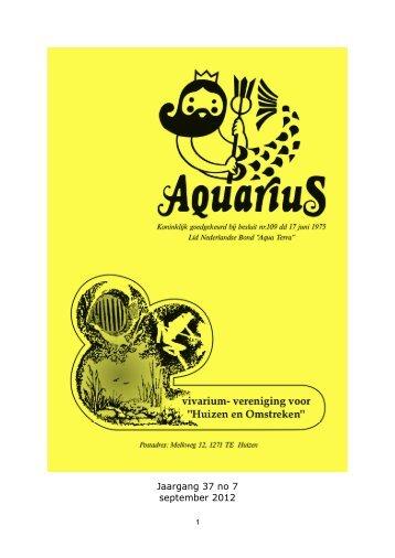 sept 2012 jaargang 37 nummer 9 - Aquarius
