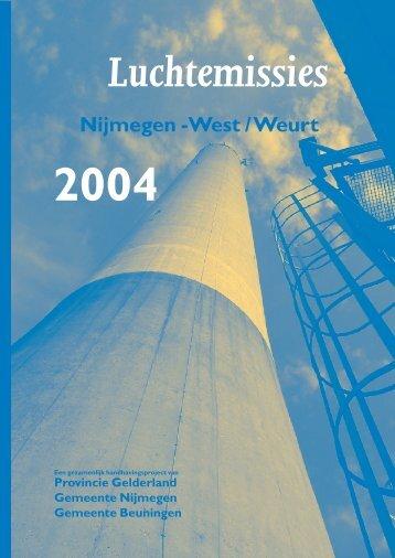 Luchtemissies Nijmegen-West / Weurt in 2004 - Nijmegen-West en ...