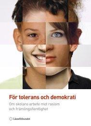 För tolerans och demokrati - Lärarförbundet
