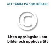 Liten uppslagsbok om bilder och upphovsrätt - Fotograf Stockholm