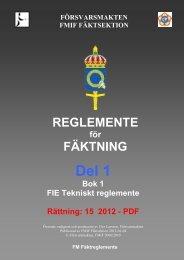 REGLEMENTE FÄKTNING - Domare.net