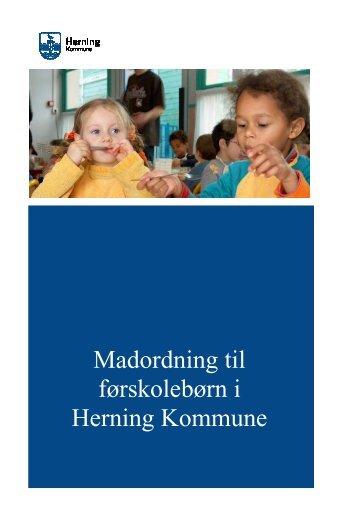Indførelse af obligatoriske madordninger for førskolebørn