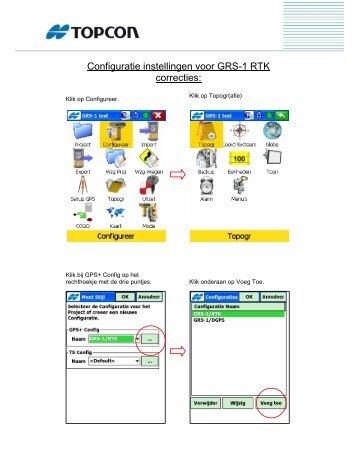 Configuratie instellingen voor GRS-1 RTK correcties: - OpenDrive