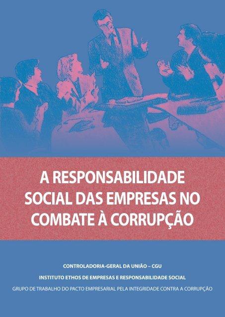 A responsabilidade social das empresas no - Controladoria-Geral ...