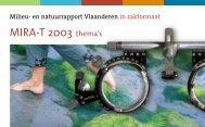 MIRA-T 2003 thema's - Milieurapport Vlaanderen MIRA