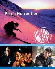 En broschyr om att arbeta som polis i Norrbotten - Polisen