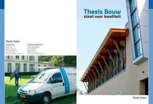 thesis bouw ede bv