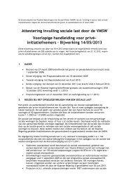 Attestering invulling sociale last door de VMSW Voorlopige ...