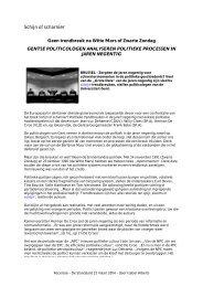 Geen trendbreuk na Witte Mars of Zwarte Zondag - Academia Press