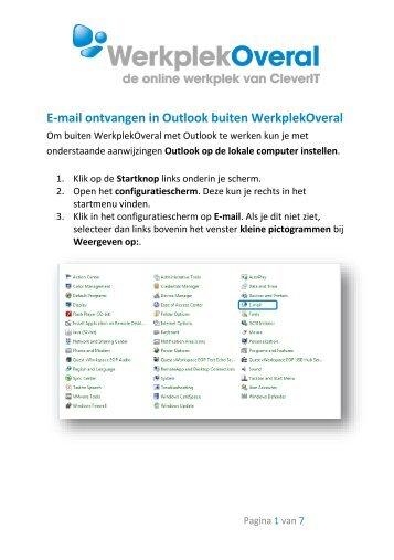 Outlook instellen op lokale computer - CleverIT