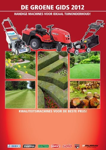 DE gROENE gIDS 2012 - Pro Garden