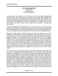 De Oudste Bisschop Pagina 1 van 4 DE OUDSTE BISSCHOP 29 ...