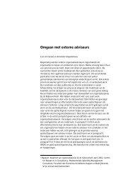 Omgaan met externe adviseurs - Samenwerken eerstelijnszorg