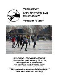 Jaarboekje 2006 - IJsclub Vlietland