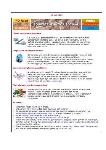 Nieuwsbrief 10 Juli 2012 - Bouwstenen voor Sociaal