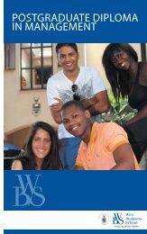 postgraduate diploma in management - Wits Business School
