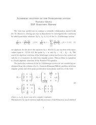 Algebraic solution of the Schlesinger system Tamara Grava ESF ...