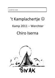 Kamp 2011 - Chiro Iserna