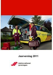 Jaarverslag 2011 - Doktersdienst Groningen