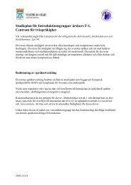 Studieplan för Introduktionsgrupper årskurs F-1, Centrum för ...