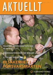 Aktuellt nummer 4/2010 - Elsäkerhetsverket