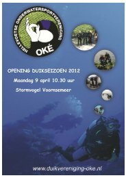 OPENING DUIKSEIZOEN 2012 Maandag 9 april 10.30 uur ...