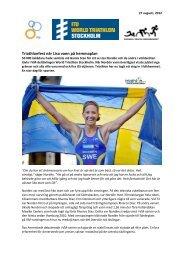 Pressrelease 27 augusti - Stockholm Triathlon